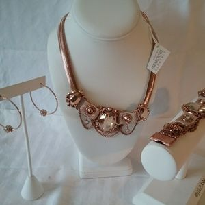 Swarovski Crystal rose gold jewelry new with tag